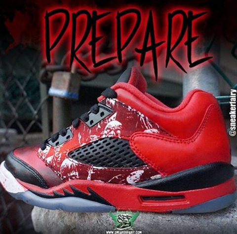 e522871e12b Another pair that caught our eye was these Walking Dead Air Jordan V s by   sneakerfairy.