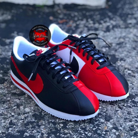 Red and Blue Nike Cortez