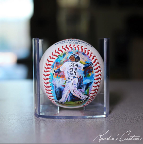 Ken Griffey Jr Hand-Painted Baseball