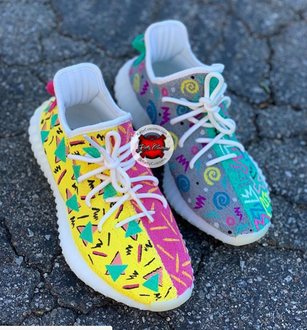f053045514ed88 Colorful Yeezy 350s