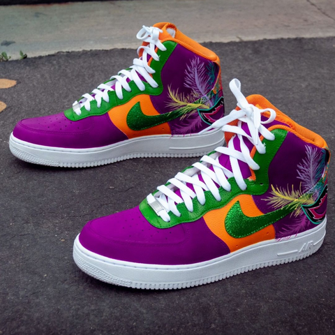Mardi Gras Nike Air Force High