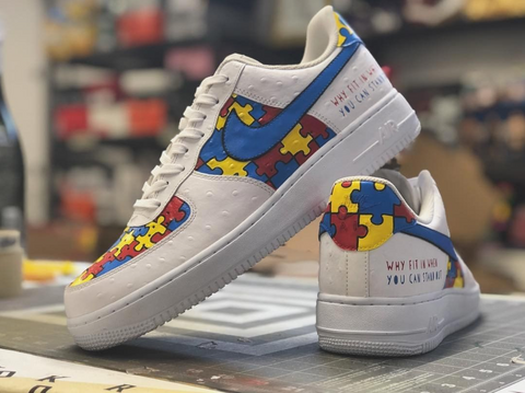 b0cc81a38394 Autism Awareness Air Forces. (source   mache275). Custom shoes are a great  way ...