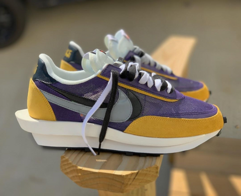 Purple and Gold Nike Sacai