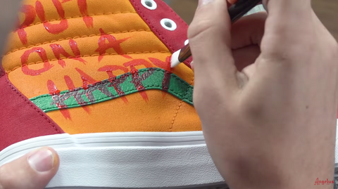 Painting the Side of the Shoe