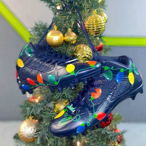Custom Christmas Cleats