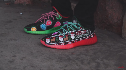 Ugly Christmas Sweater Yeezy Boost 350 V2