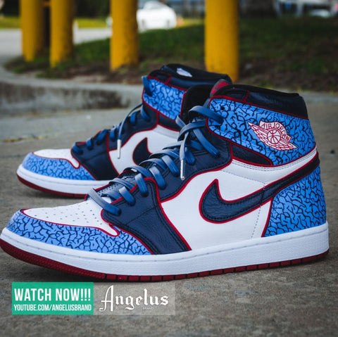 Custom Air Jordan 1 Elephant Print