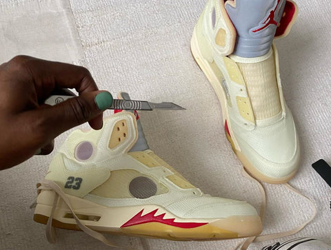 Off-White x Air Jordan V 'Sail'