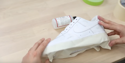 Tape off the shoe