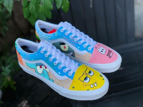 SpongeBob Custom Vans