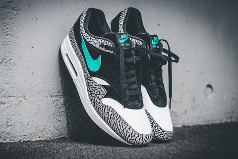 best loved 7ad57 40aee norway nike air max one curry for sale c5197 56025  germany the design  features jordan elephant print against a splash of jade a memorable use of