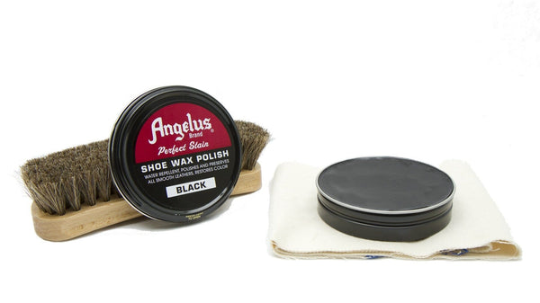 Angelus Black Shoe Wax Polish is the best shoe polish on the market.