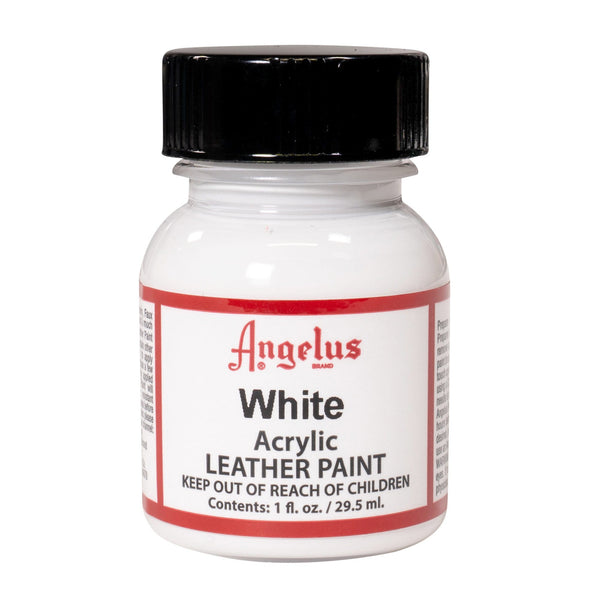 Angelus White Acrylic Leather Paint - Restore & Customer Shoes and Sneakers