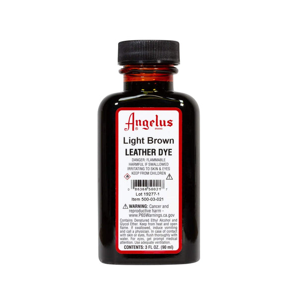 Angelus Light Brown Leather Dye - 3 oz.