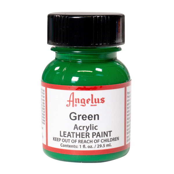 Angelus makes the highest quality Acrylic Leather Paint. Our Green Paint is water-based for easy clean-up!