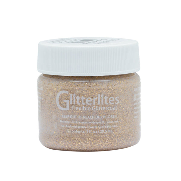 Angelus Glitterlites in Desert Gold are perfect for DIY projects and custom jobs that need some sparkle.