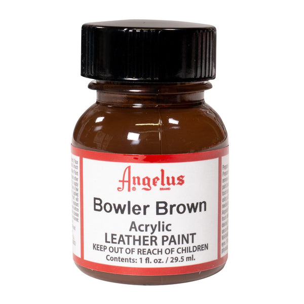 Angelus Bowler Brown Acrylic Leather Paint for Restoring Bags and Purses