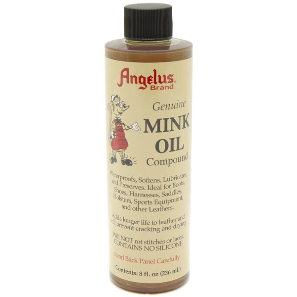 Angelus Mink Oil preserves and conditions leather boots.