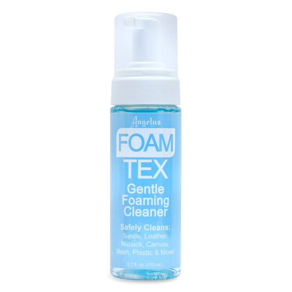 Foam Tex is a gentle foaming cleaner, part of Angelus Brand's premium sneaker cleaners.