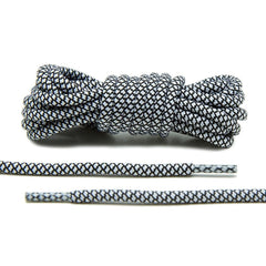 Black/White Rope Laces