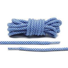 Blue/White Rope Laces