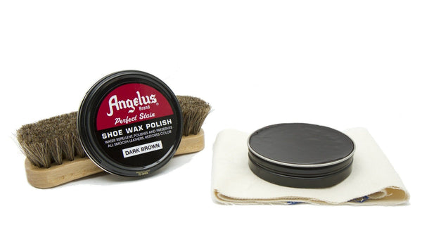Bring your leather boots back to life with a touch of Dark Brown Shoe Wax Polish from Angelus.