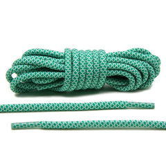 Green/White Rope Laces
