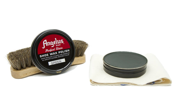 Keep your boots looking sharp with Angelus Green Shoe Wax Polish. Only from Angelus Direct.