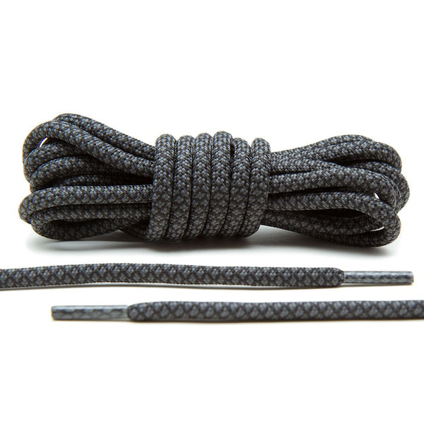 Grey/Black Rope Laces