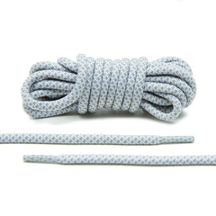 Grey/White Rope Laces