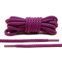 Hot Pink/Black Rope Laces