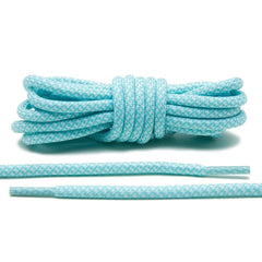 Mint Green/White Rope Laces