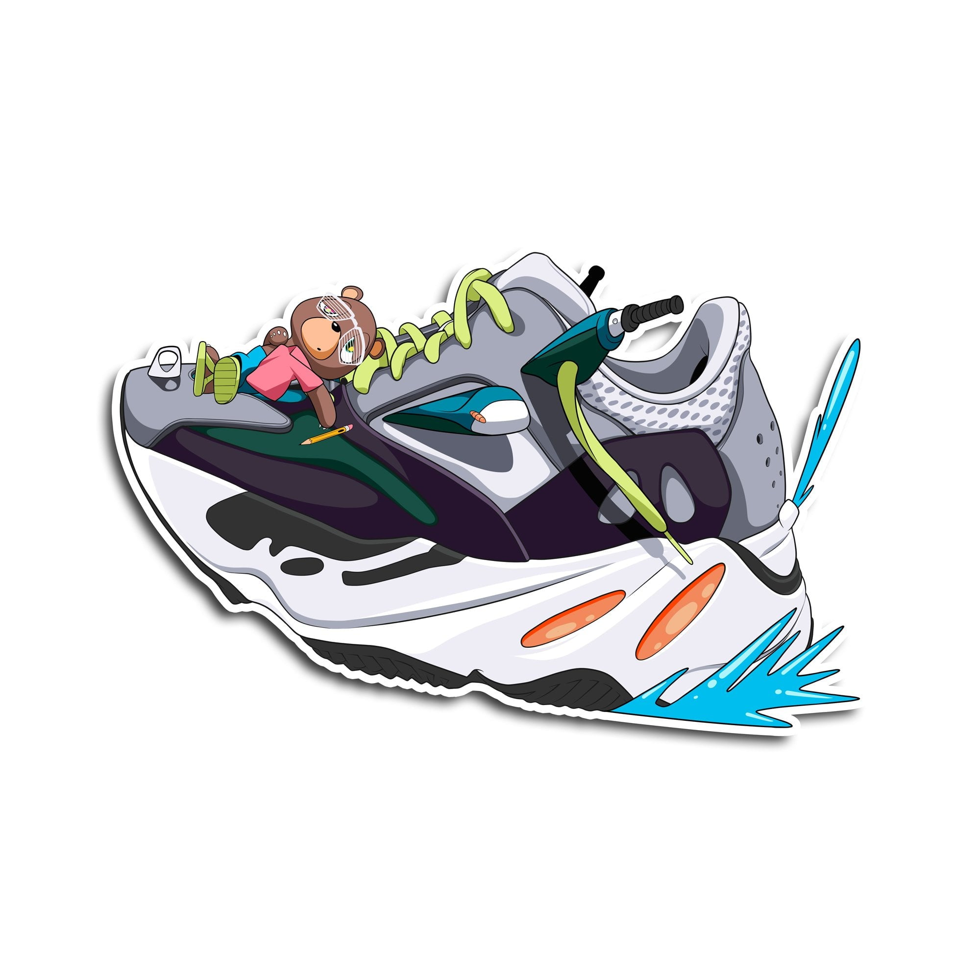 best service 2c0a5 244b5 Yeezy 700 Wave Runner Sticker