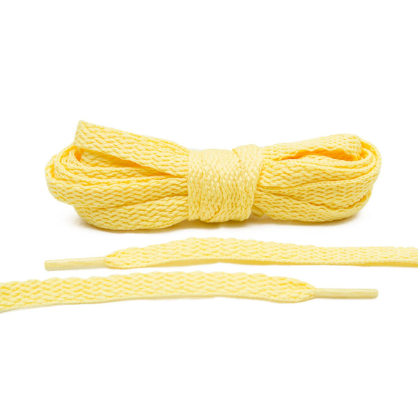 For a subtle touch of color on your canvas sneakers, Lace Lab's Pale Yellow Shoe Laces are a must.