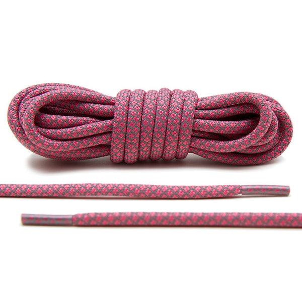 Pink 3M Reflective Rope Laces