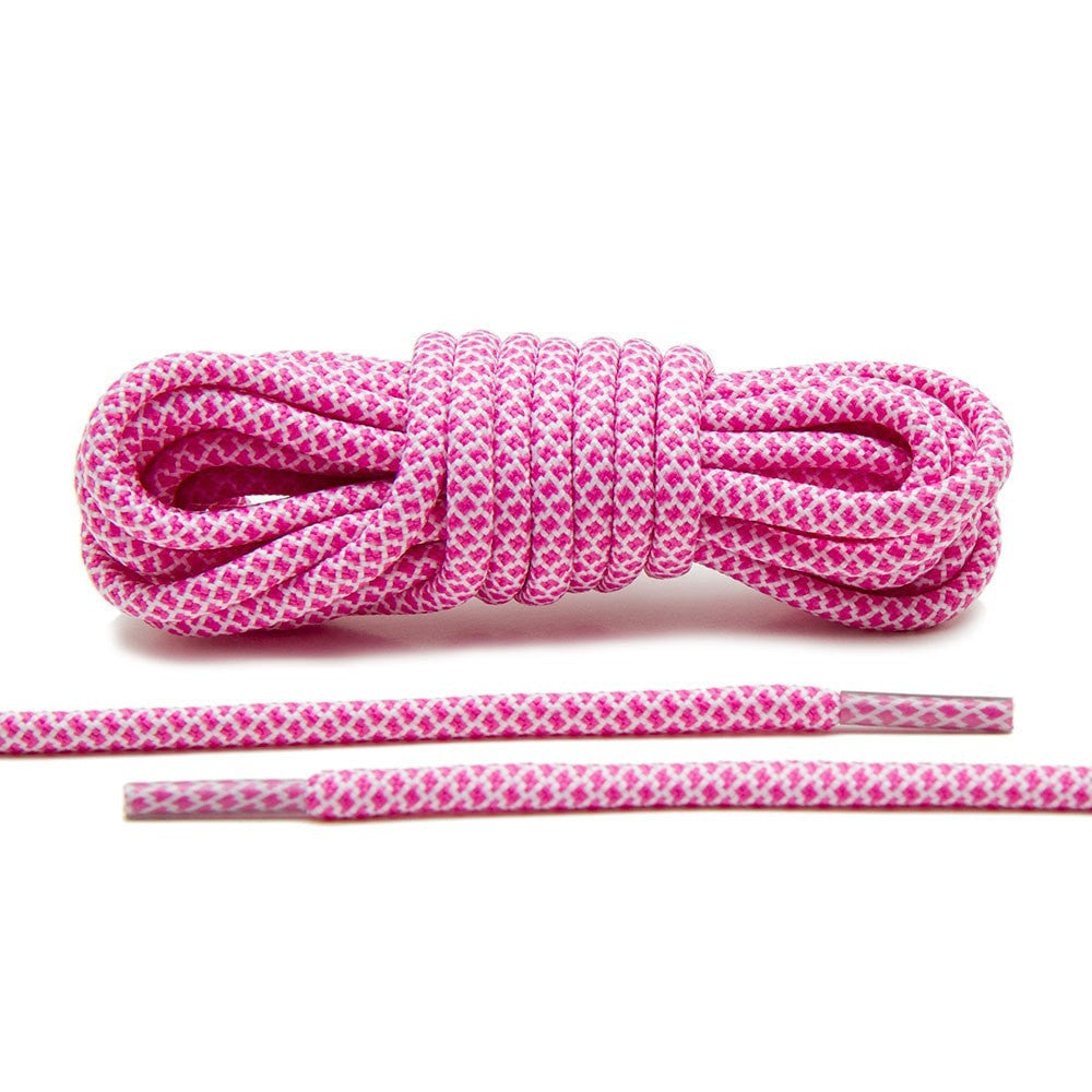 Pink/White Rope Laces