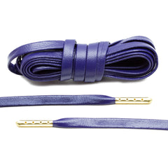 Purple Luxury Leather Laces - Gold Plated
