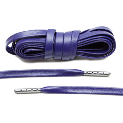 Purple Luxury Leather Laces - Gunmetal Plated
