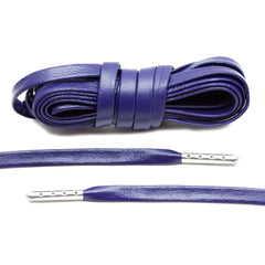 Purple Luxury Leather Laces - Silver Plated