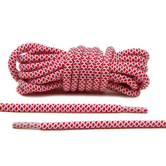 Red/White Rope Laces