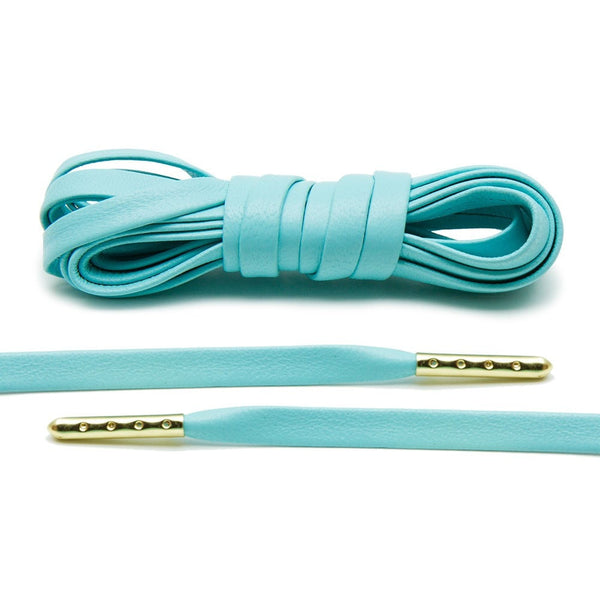 Mint Luxury Leather Laces - Gold Plated