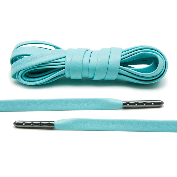 Mint Luxury Leather Laces - Gunmetal Plated