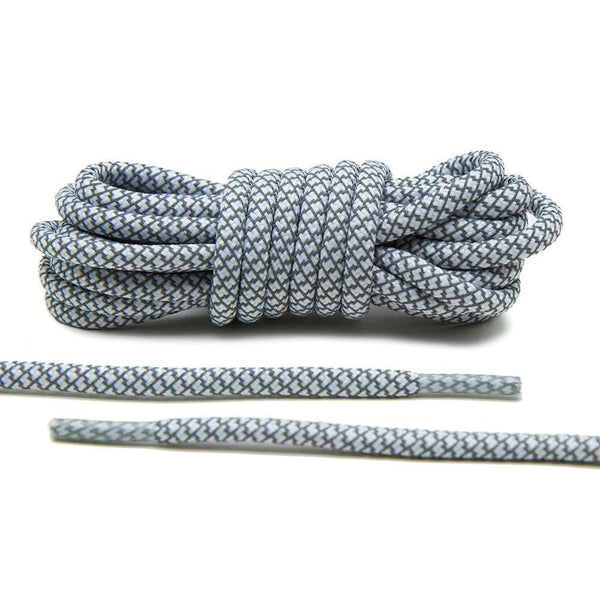 Lace Lab has your Yeezy back up laces with our White 3M Reflective Rope Laces.