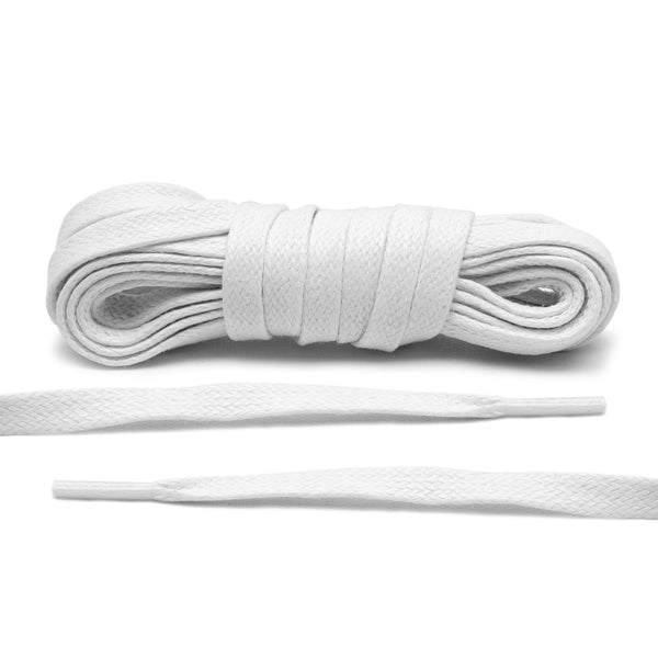 White Waxed Shoe Laces