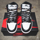 Lace Lab Black Leather Laces - Jordan Chicago 1's - 63""