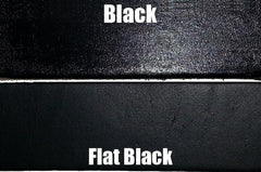 Angelus Leather Paint Black Vs Flat Black