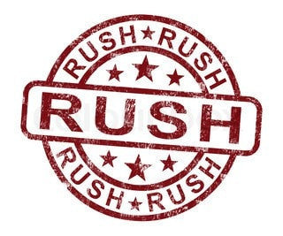 Rush Processing - Same Day Processing