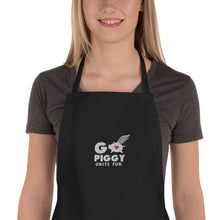 Load image into Gallery viewer, GO PIGGY UNITE FUN Embroidered Apron
