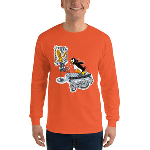 Morals Arrivederci NeverGiveUp Penguin Long Sleeve T-Shirt