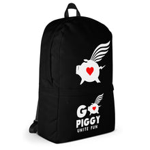 Load image into Gallery viewer, GO PIGGY UNITE FUN black Backpack